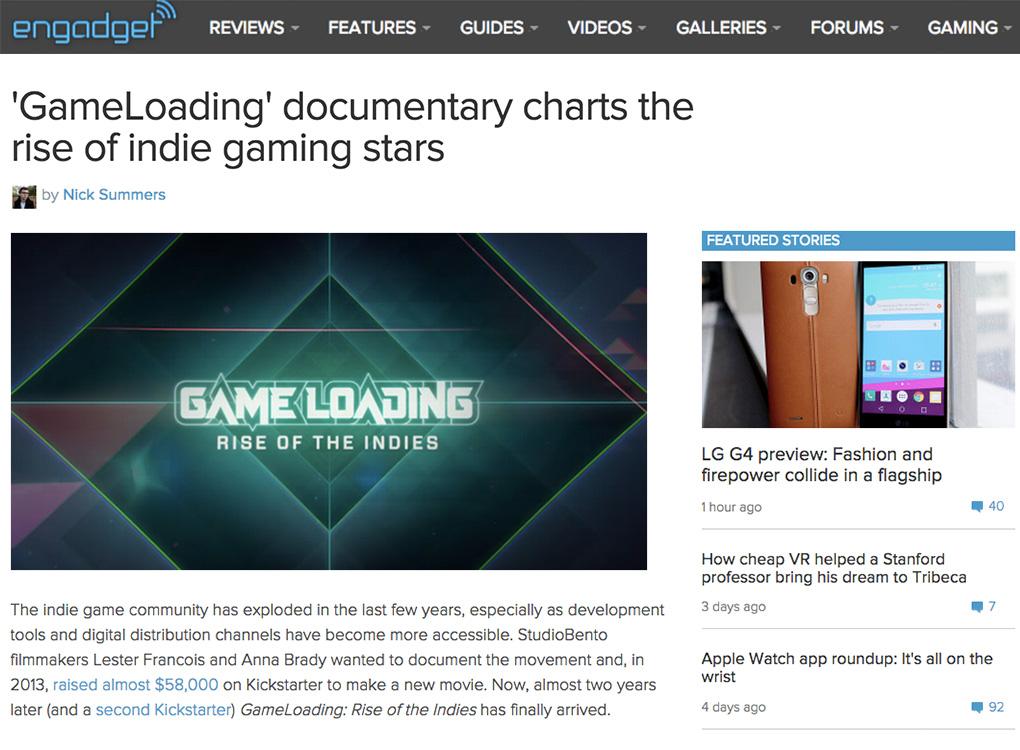 Engadget GameLoading