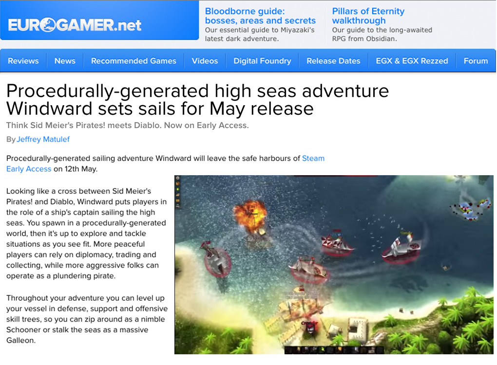 Eurogamer Windward