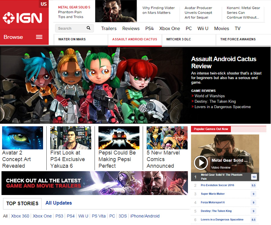 IGN Front Page 9-28