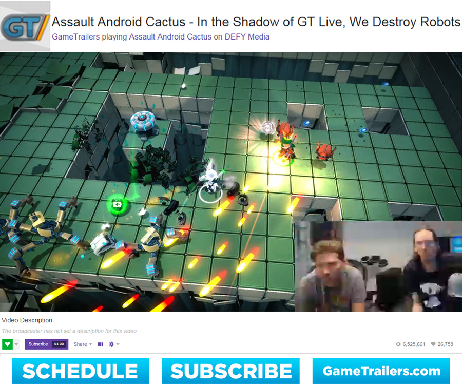 Blog Post 10-2 - GameTrailers Stream
