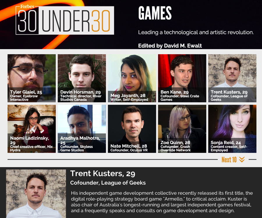 League of Geeks 30 under 30