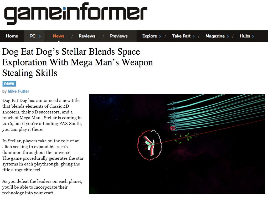 Stellar Game Informer blog