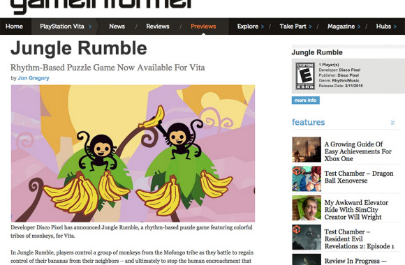 Game Informer Jungle Rumble