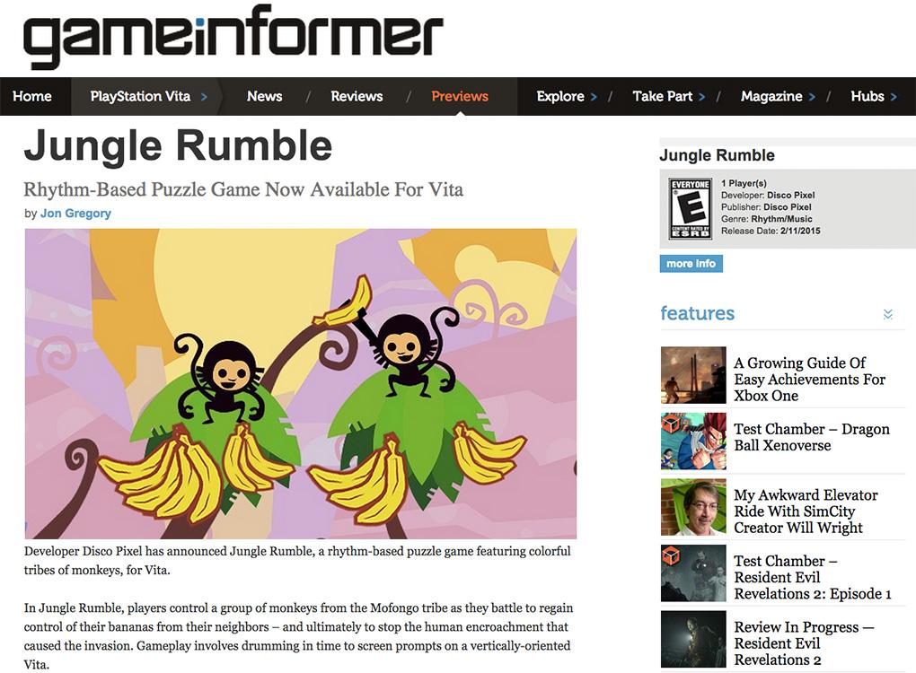Game Informer Jungle Rumble