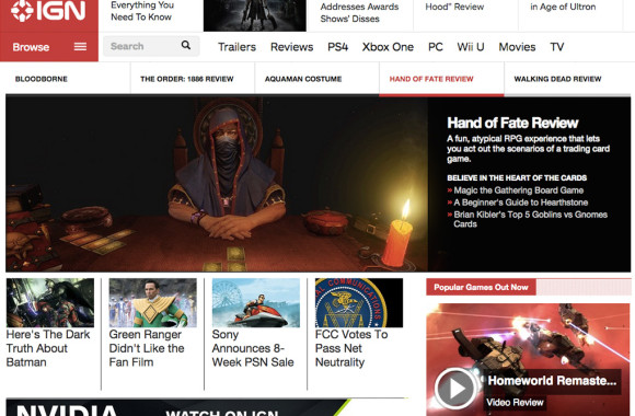 IGN Hand of Fate front page