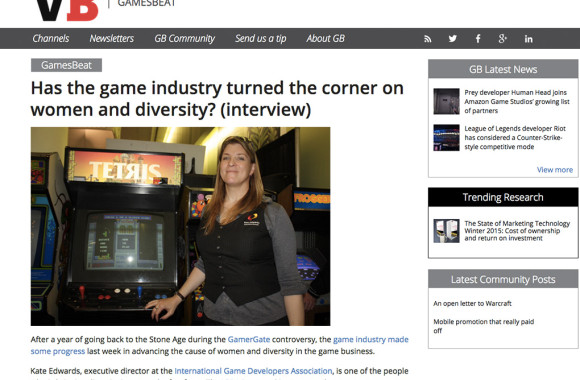 VentureBeat Kate Edwards interview