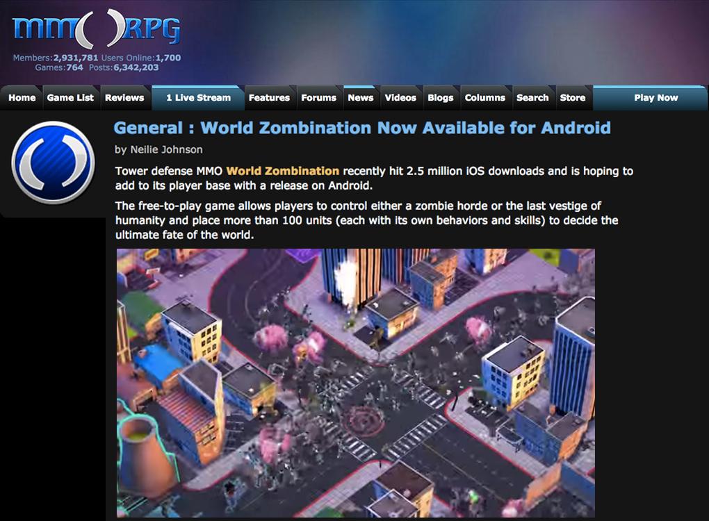 World Zombination MMORPG