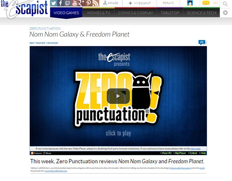 Zero Punctuation - Nom Nom Galaxy