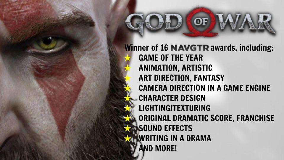 God of War NAVGTR awards