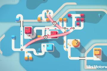 Mini Motorways screenshot with logo